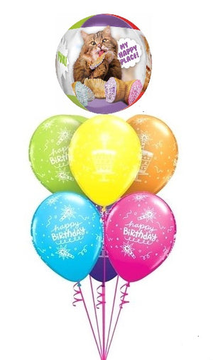 Humour Hungry Cats Birthday Balloon Bouquet