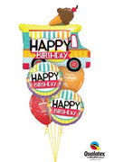 Ice Cream Truck Birthday Balloon Bouquet