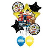 Justice League Birthday Balloon Bouquet