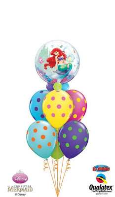 Little Mermaid Ariel Bubbles Balloon Bouquet 1
