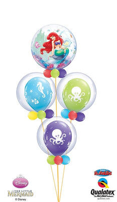 Little Mermaid Ariel Bubbles Balloon Bouquet 3