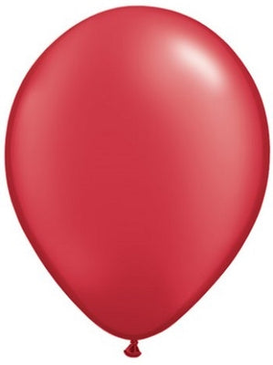 11 inch Pearl Ruby Red Helium Balloon