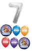 Lego Movie Pick An Age Silver Number Birthday Balloon Bouquet