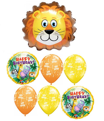 Jungle Lion Birthday Balloon Bouquet 1