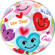 Love Conversations Hearts Bubbles Balloon