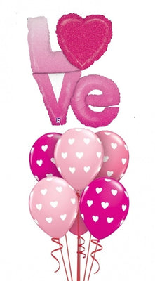 Love Hearts Ombre Balloon Bouquet