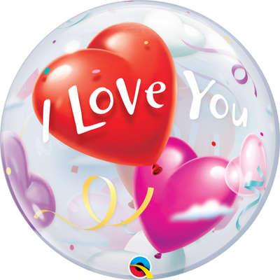 I Love You Hearts Bubbles Balloon
