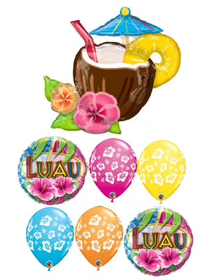 Luau Tropical Drink Coconut Pina Balloon Bouquet 2