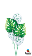 Luau Philodendron Tropical Greenery Balloon Bouquet