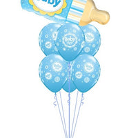 Baby Blue Bottle Balloon Bouquet 1