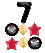 Birthday Magic Pick An Age Black Number Balloon Bouquet