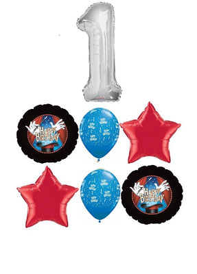 Birthday Magic Pick An Age Silver Number Balloon Bouquet