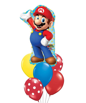 Mario Brothers Balloon Bouquet 1