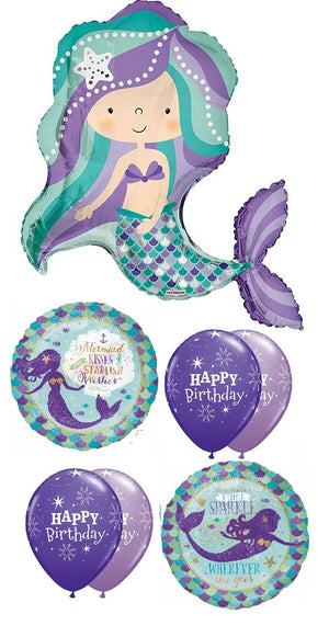 Mermaid Birthday Balloon Bouquet 11