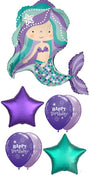 Mermaid Birthday Balloon Bouquet 10