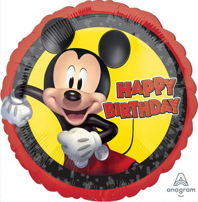 Mickey Mouse Happy Birthday 18 inch Mylar Foil Balloon with Helium