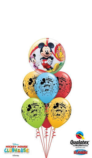 Mickey Mouse Bubbles Colourful Balloon Bouquet
