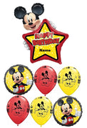 Mickey Mouse Personalized Name Happy Birthday Balloon Bouquet