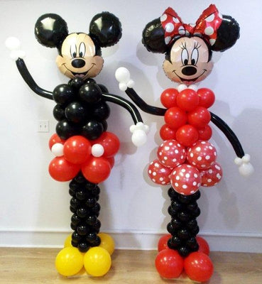 Mickey and Minnie Mouse Red Balloon Columns