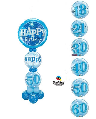 Pick An Age Blue Birthday Stand Up