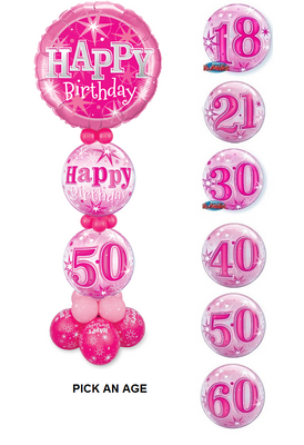 Pick An Age Pink Birthday Stand Up