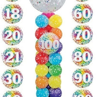 Pick An Age Birthday  Confetti Column