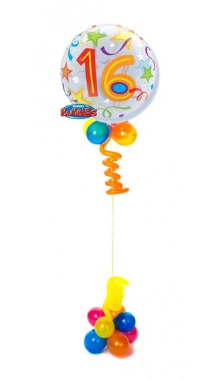 16th Bubble Brilliant Stars Balloon Centerpiece
