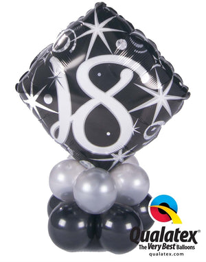 18th Elegant Birthday Balloon Centerpiece