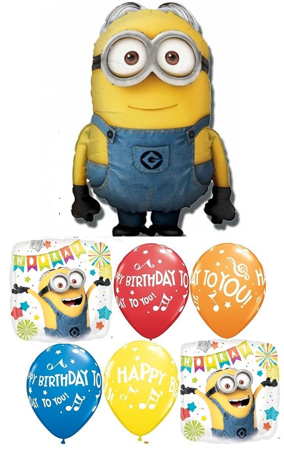 Minion Despicable Me Birthday Dave Balloon Bouquet