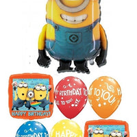 Minion Despicable Me Happy Birthday Stuart Balloon Bouquet
