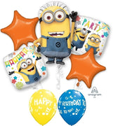 Minions Despicable Me Stars Birthday Balloon Bouquet