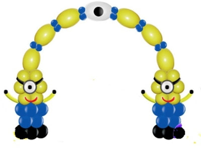 Minions Despicable Me Balloon Columns and Link Arch