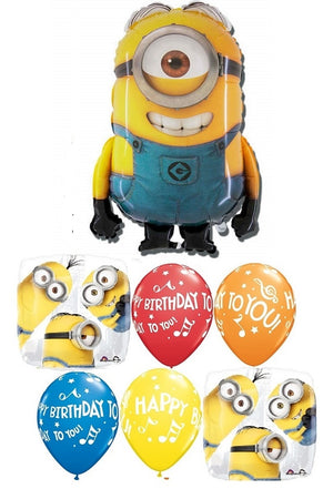 Minion Despicable Me Stuart Birthday Balloon Bouquet