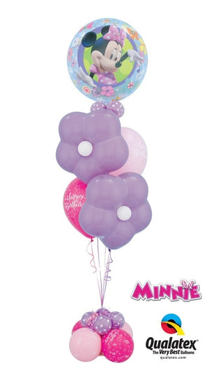 Minnie Mouse Bubbles Blossoms Birthday Balloon Bouquet