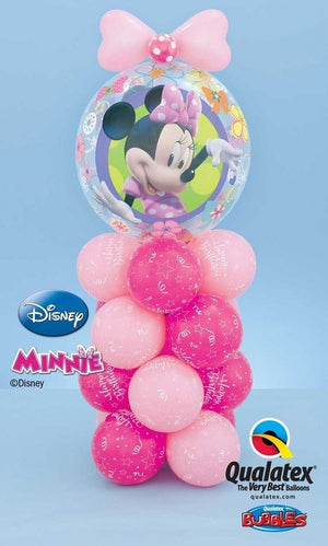 Minnie Mouse Bubbles Mini Balloon Stand Up