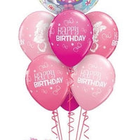 Minnie Mouse Bubbles Pink Rose Wild Berry Birthday Balloon Bouquet