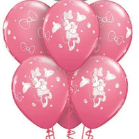 Minnie Mouse Double Bubbles Birthday Pinks Balloon Bouquet