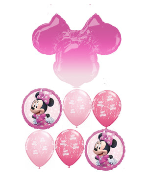 Minnie Mouse Ears Ombre Birthday Balloon Bouquet