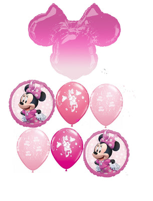 Minnie Mouse Ears Ombre Forever Birthday Balloon Bouquet