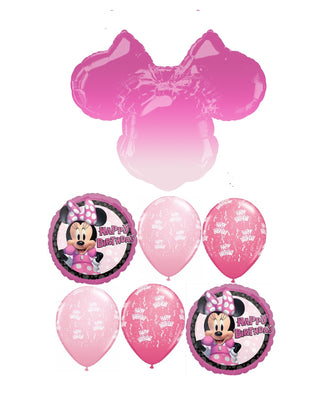 Minnie Mouse Ombre Happy Birthday Balloon Bouquet