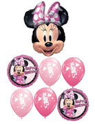 Minnie Mouse Pinks Happy Birthday Balloon Bouquet