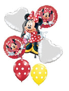 Minnie Mouse Red Birthday Balloon Bouquet