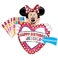 Minnie Mouse Red Personalized Name Heart Balloon