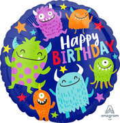 Monsters Happy Birthday 18 inch Foil Balloons