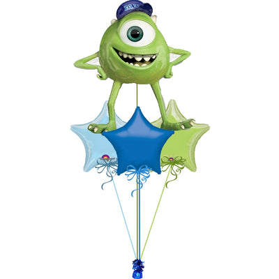 Monsters Inc Mike Balloon Bouquet 1