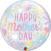 Mothers Day Pastel Floral Bubbles Balloon