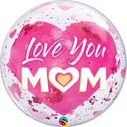 Mothers Day Pink Sold Love You Mom Bubbles Balloon