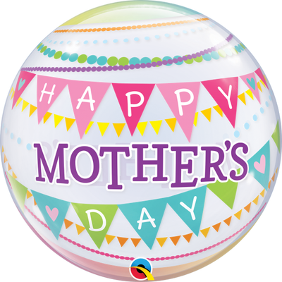 Happy Mothers Day Pennant Bubbles Balloon