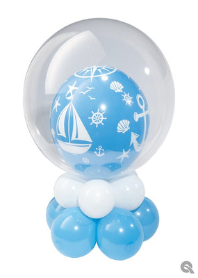 Nautical Bubbles Balloon Table Centerpiece