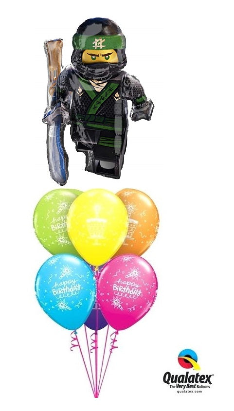 Ninjago Lego Happy Birthday Balloon Bouquet